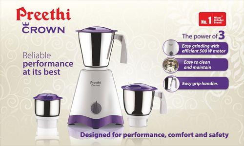 Preethi Crown Mixer Grinder
